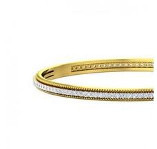 Diamond Bangles 2.53 CT / 17.50 gm Gold