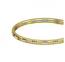Diamond Bangles 1.24 CT / 17.09  gm Gold