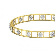 Diamond Bangles 1.28 CT / 10.97  gm Gold
