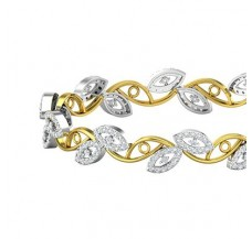 Diamond Bangles 2.56 CT / 20.97  gm Gold