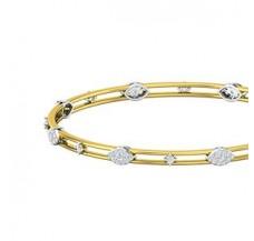 Diamond Bangles 1.07 CT / 11.69  gm Gold