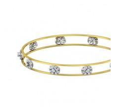 Diamond Bangles 1.05 CT / 9.23  gm Gold