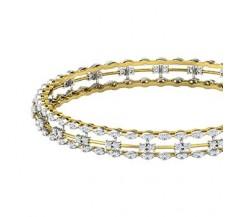 Diamond Bangles 2.76 CT / 18.00  gm Gold