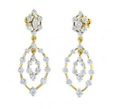 Diamond Earrings 1.26 CT / 4.93 gm Gold