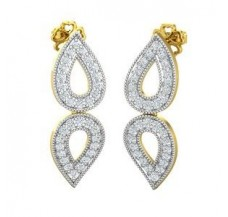 Diamond Earrings 0.64 CT / 3.90 gm Gold