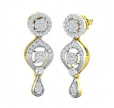 Diamond Earrings 0.87 CT / 6.50 gm Gold