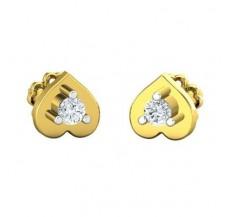 Diamond Earrings 0.13 CT / 2.35 gm Gold