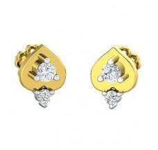 Diamond Earrings 0.18 CT / 2.55 gm Gold
