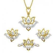 Diamond Pendant FullSet - 0.93 CT / 9.57 gm Gold