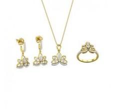 Diamond Pendant FullSet - 0.88 CT / 10.18 gm Gold