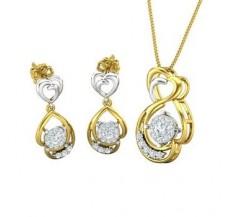 Diamond Pendant Half Set - 0.73 CT / 6.47 gm Gold