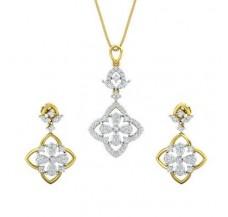 Diamond Pendant Half Set - 1.24 CT / 10.24 gm Gold