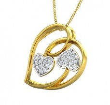 Diamond Heart Pendant 0.16 CT / 2.35 gm Gold