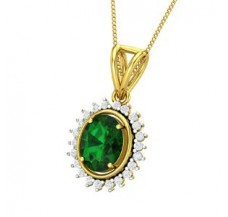 Diamond & Gemstone Gold Pendant