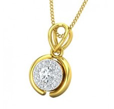 Diamond Pendant 0.28 CT / 1.17 gm Gold
