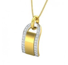 Diamond Pendant for Men 0.19 CT / 2.59 gm Gold