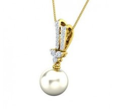 Diamond Pearl Pendant 0.24 CT / 1.57 gm Gold