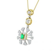 Diamond & Gemstone Pendant Gold