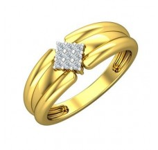 Diamond Ring for Men 0.13 CT / 5.27 gm Gold