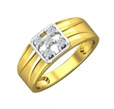 Diamond Ring for Men 0.30 CT / 5.30 gm Gold