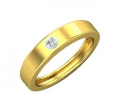 Diamond Band for HER 0.09 CT / 3.20 gm Gold