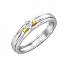 Diamond Band for Men 0.15 CT / 4.60 gm Gold