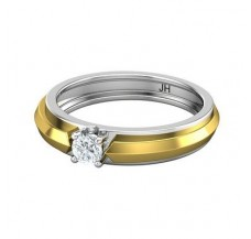 PreSet Solitaire Band Men 0.30 CT / 5.40 gm Gold