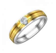 PreSet Solitaire Band Men 0.30 CT / 6.00 gm Gold